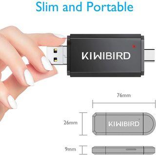 Lector Tarjeta SD/Micro SD, Adaptador USB Tipo C