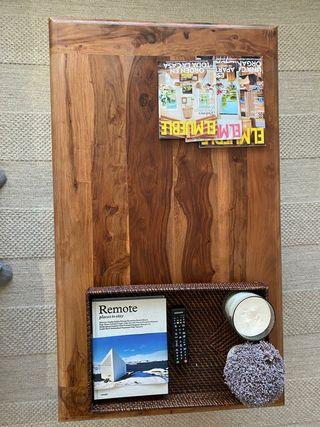 Mesa baja de centro 70x120. madera maciza.