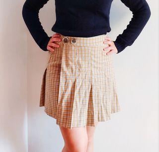 falda cuadros MANGO