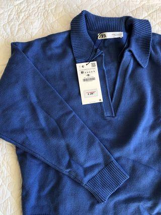 Jersey nuevo Zara CON ETIQUETA azul francia