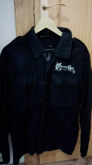 chaqueta militar estampado .