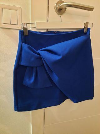 falda, zara, azul marino, nueva, xs/s