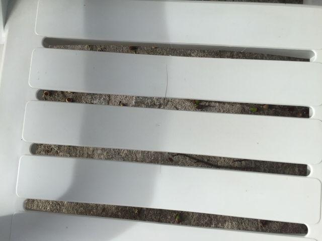 4 tumbonas/hamacas con colchonetas