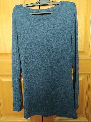 Camiseta azul fina