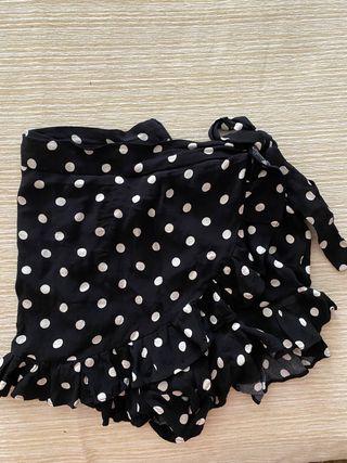 Falda pantalón de lunares Zara