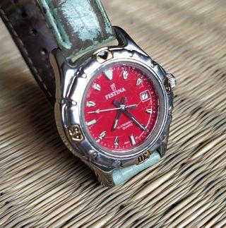 Reloj FESTINA juvenil rojo