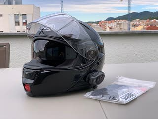Casco Shoei Neotec Negro + Intercomunicador