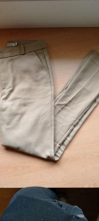 pantalon de pinza marron beige camel