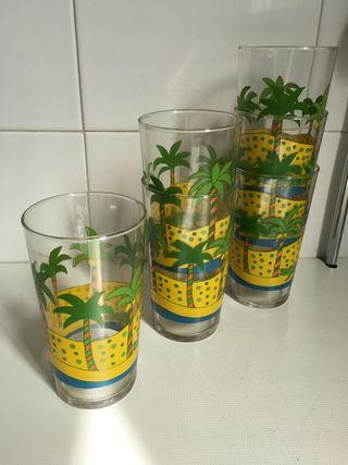 Juego vasos refresco