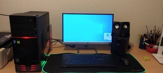 """Monitor HP 22"""" + Altavoces 2.1 + Alfombra + Teclad"""