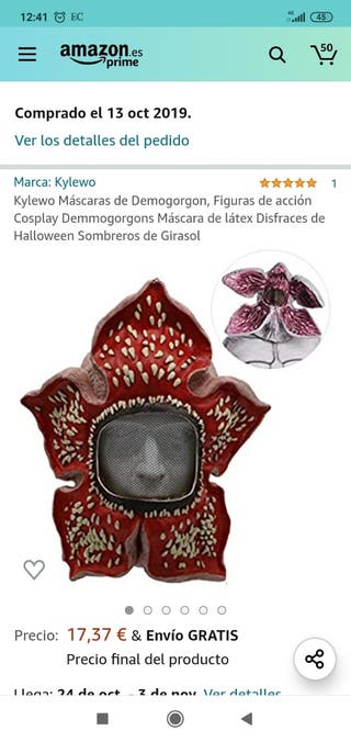 MASCARA HALLOWEEN DEMOGORGON ( STRANGER THINGS)
