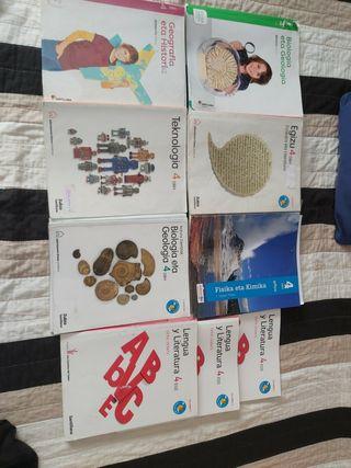 Libros en Euskera: 4.ESO