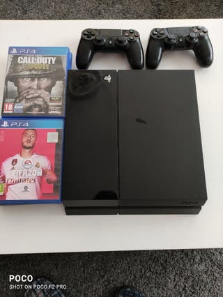 PS4 +6 juegos + 2 mandos originales+ conexiones