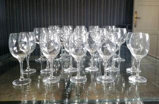Cristalería fina, 30 copas