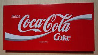 Cartel chapa coca cola coke