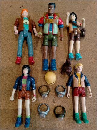 Figuras Capitán Planeta + anillos (años 90)