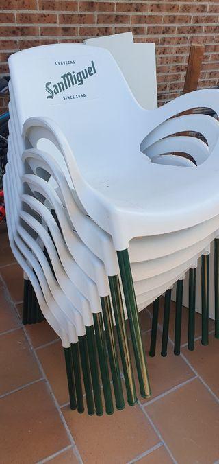 Mesas y sillas para terraza