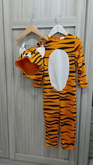 disfraz de tigre t 2-4años, h&m