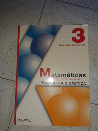 Libro de Matemáticas 3 educación secundaria