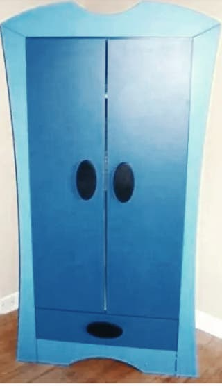 Armario infantil IKEA Mammut Azul