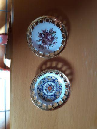 mini platos porcelana asturiana