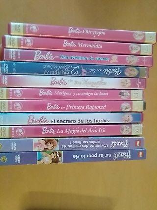 9 peliculas Barbie + 2 peliculas Lego Friends