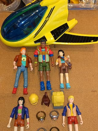 Figuras Capitán Planeta + NAVE + anillos (años 90)