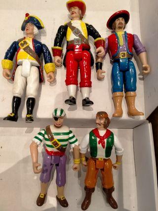 Piratas del alta mar -5 figuras Imperial Toys 1990