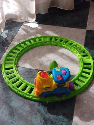 Tren de juguete con vía,sonido y luces