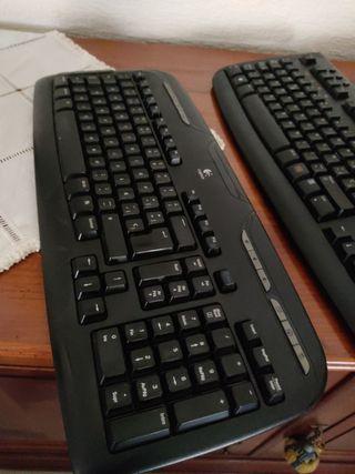 lote teclados ordenador Logitech lenovo