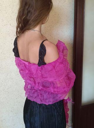 Blusa rosa boda