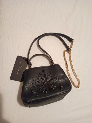 Mini bolso negro de fiesta