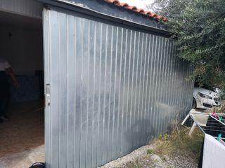 puerta de garage galvanizada