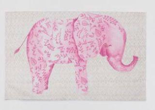 Alfombra Elefante Rosa