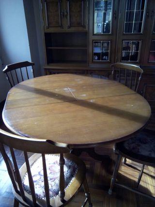 mesa redonda de Comedor con 4 sillas