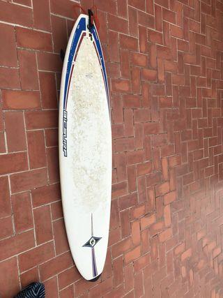 Tabla de surf mini Malibu 7,3 bic con funda