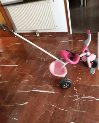2 Triciclos Smoby color Rosa y verde