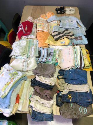 Ropa bebe niño 3-6 meses, 55 artículos