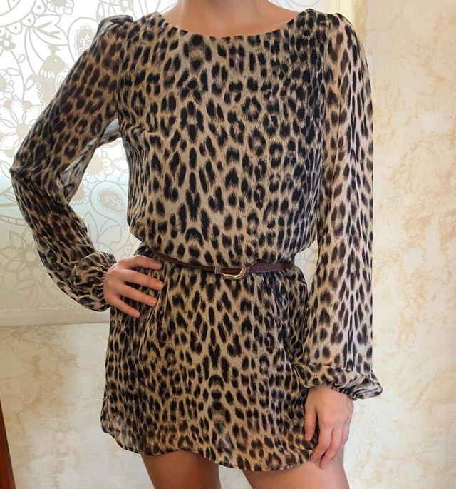 Vestido Leopardo corto nuevo animal print