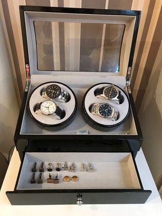 Estuche giratorio relojes automáticos