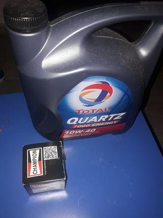 aceite y filtro de aceite