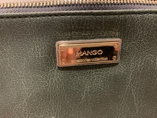 Bolso bandolera o cartera de mano verde de mango