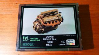 Verlinden motor Ford V-8 Sherman M4 A3 1/35