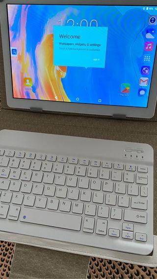 Tableta Android 10 pulgadas con teclado y funda