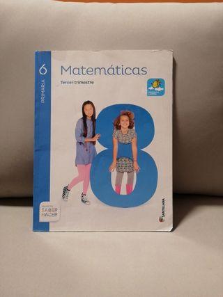 libro de matemáticas 6º de primaria tercer trimest