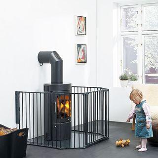 Barrera de Seguridad niños Baby Dan Flex XL negra
