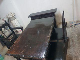 despacho antiguo vintage 1940 mesa sillas y mueble