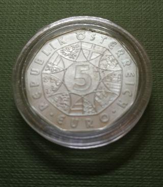Moneda de 5 euros - Austria 2004 - 100 aniv fútbol