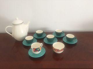 Vajilla jarra tazas porcelana café o té
