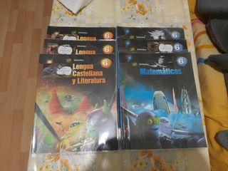 Libros para 6 de Primaria de Matemáticas y Lengua